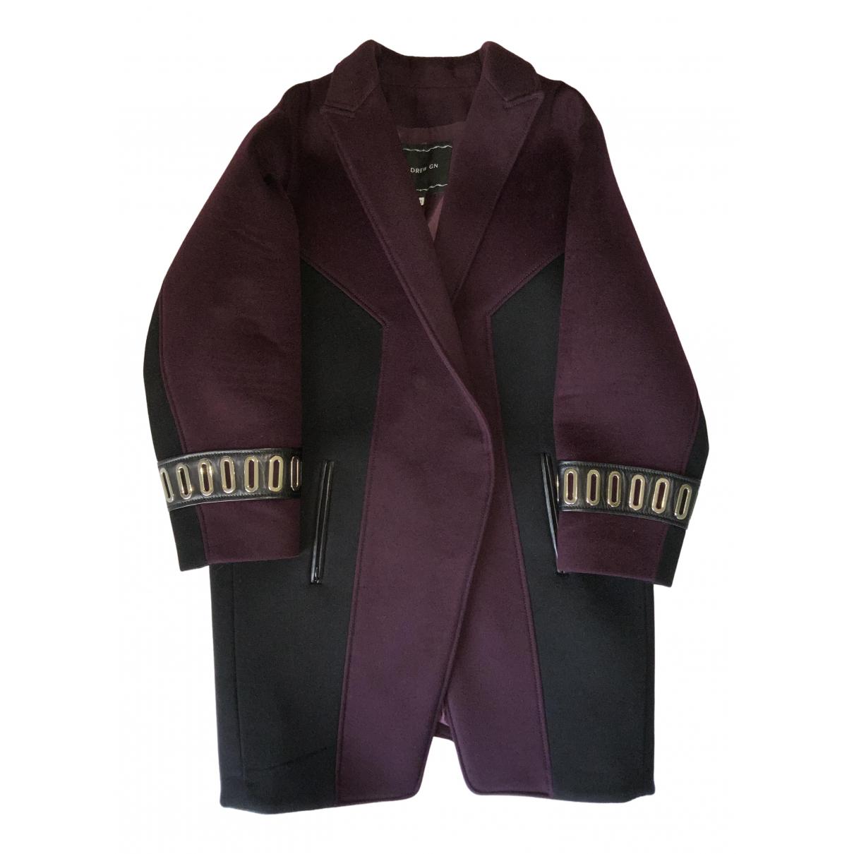 Andrew Gn - Manteau   pour femme en laine - violet