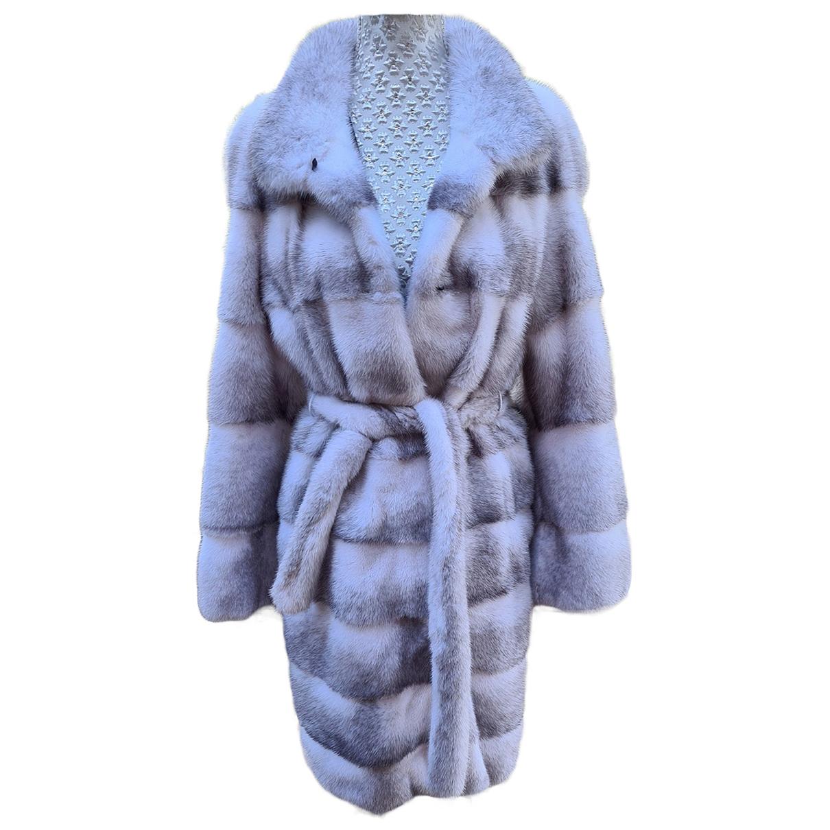 Saga Furs - Manteau   pour femme en vison - gris