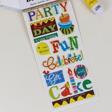 1sheet Letter Graphic Sticker