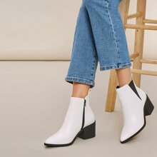 Chelsea Stiefel mit Kunstleder und Block