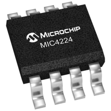 Microchip MIC4224YM Dual Low Side MOSFET Power Driver, 4A 8-Pin, SOIC (5)