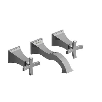 Eiffel EF03+BN-10 8 Wall Mount Lavatory Faucet with Cross Handles 1.0 GPM  in Brushed