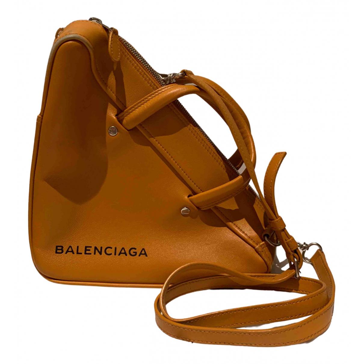 Balenciaga - Sac a main Triangle pour femme en cuir - marron