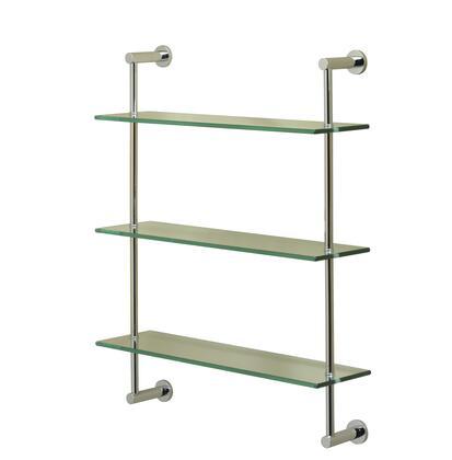 Essentials 57309CR Three Tier 25 1/2 x 20 x 5 3/4 Shelf 25 1/2 H in Chrome