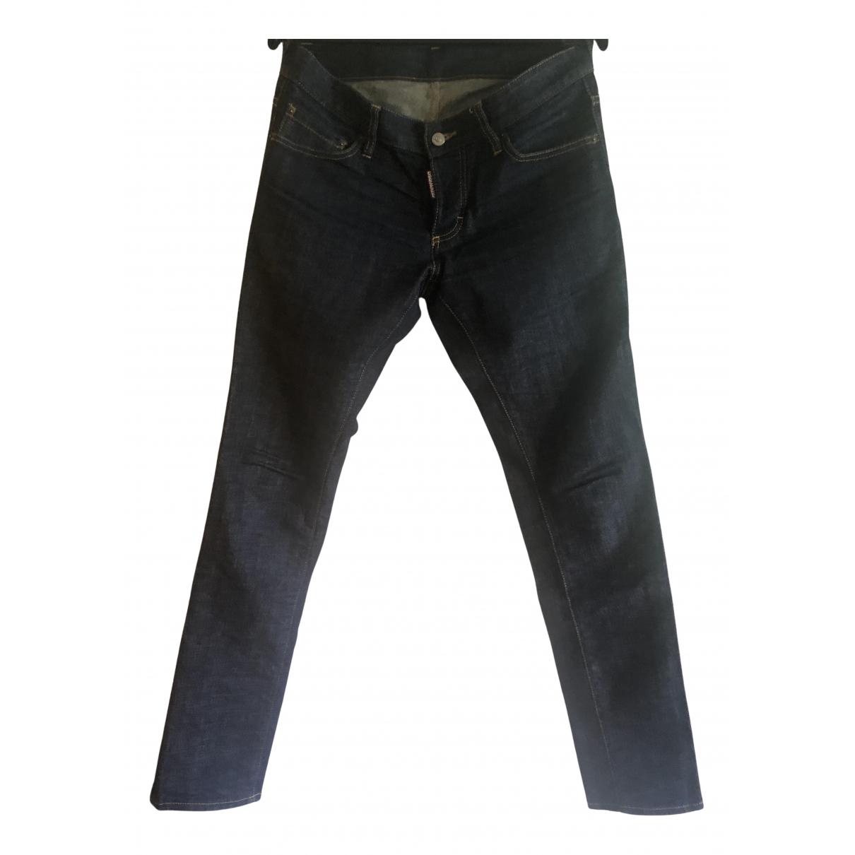 Dsquared2 N Blue Cotton Jeans for Men 42 FR