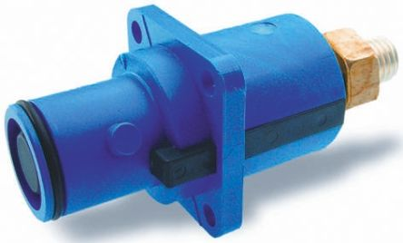 ITT Cannon , Veam Snaplock IP67 Blue Panel Mount 1P Mains Connector Plug, Rated At 250.0A, 1.0 kV