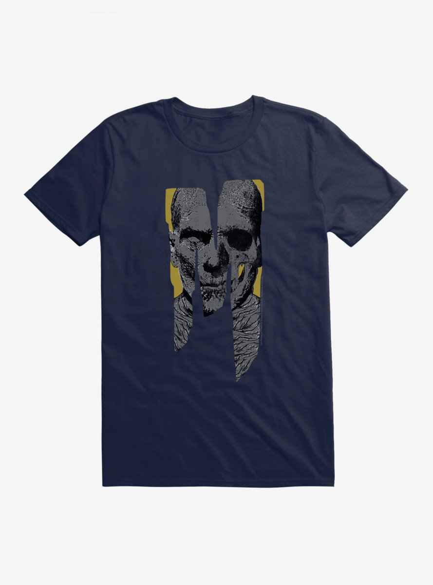 Universal Monsters The Mummy Letter Face T-Shirt