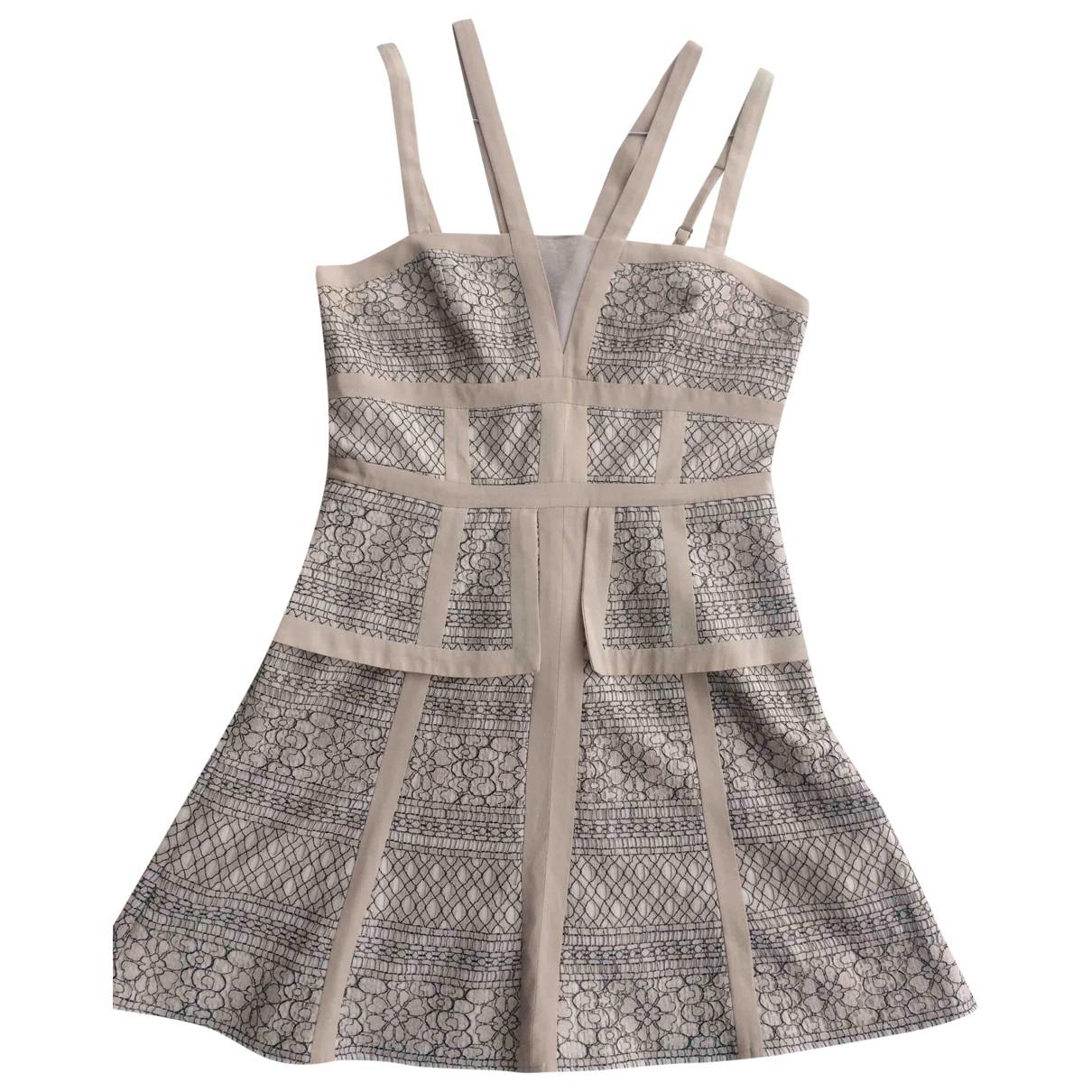 Bcbg Max Azria - Robe   pour femme en soie - beige