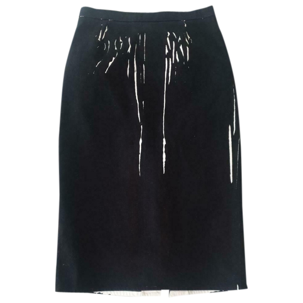 Prada \N Black Denim - Jeans skirt for Women 42 IT
