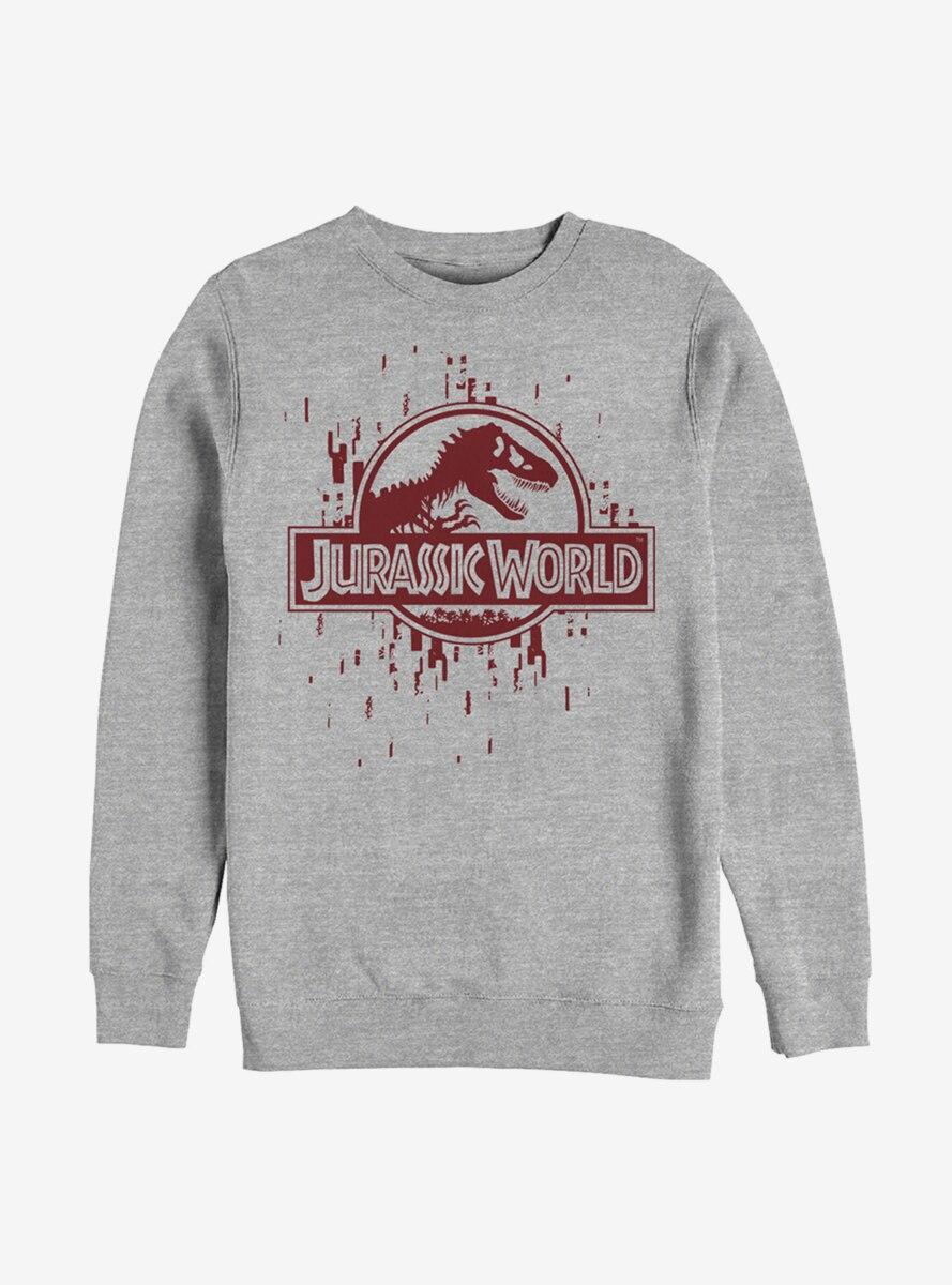 Jurassic World Glitchy Grid Logo Sweatshirt