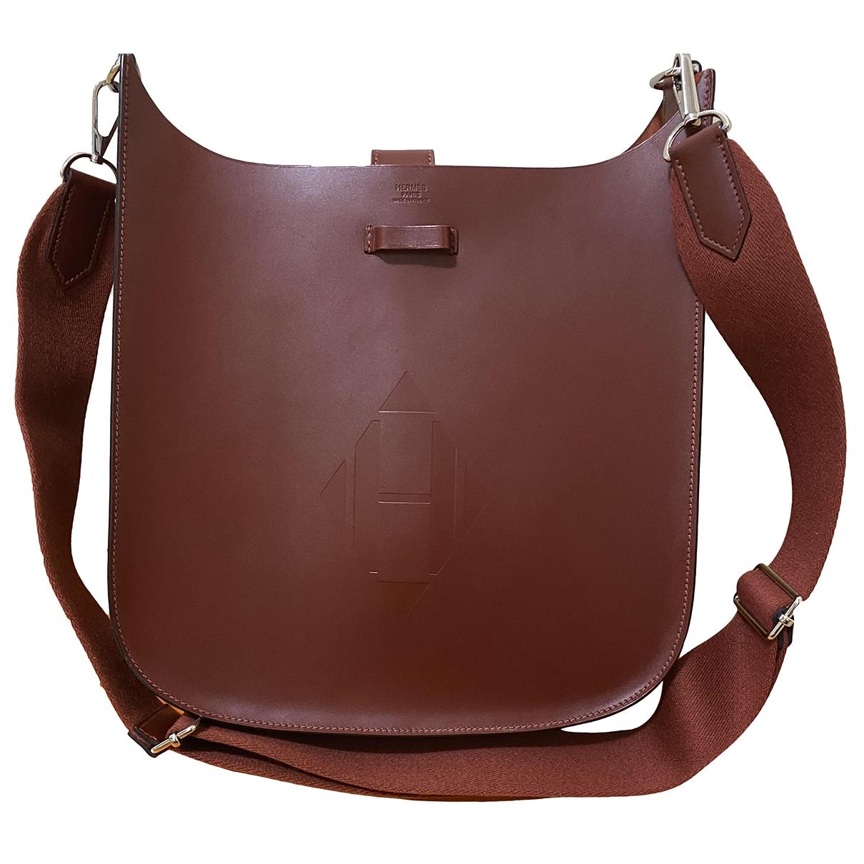 Hermès Evelyne Sellier Burgundy Leather handbag for Women \N