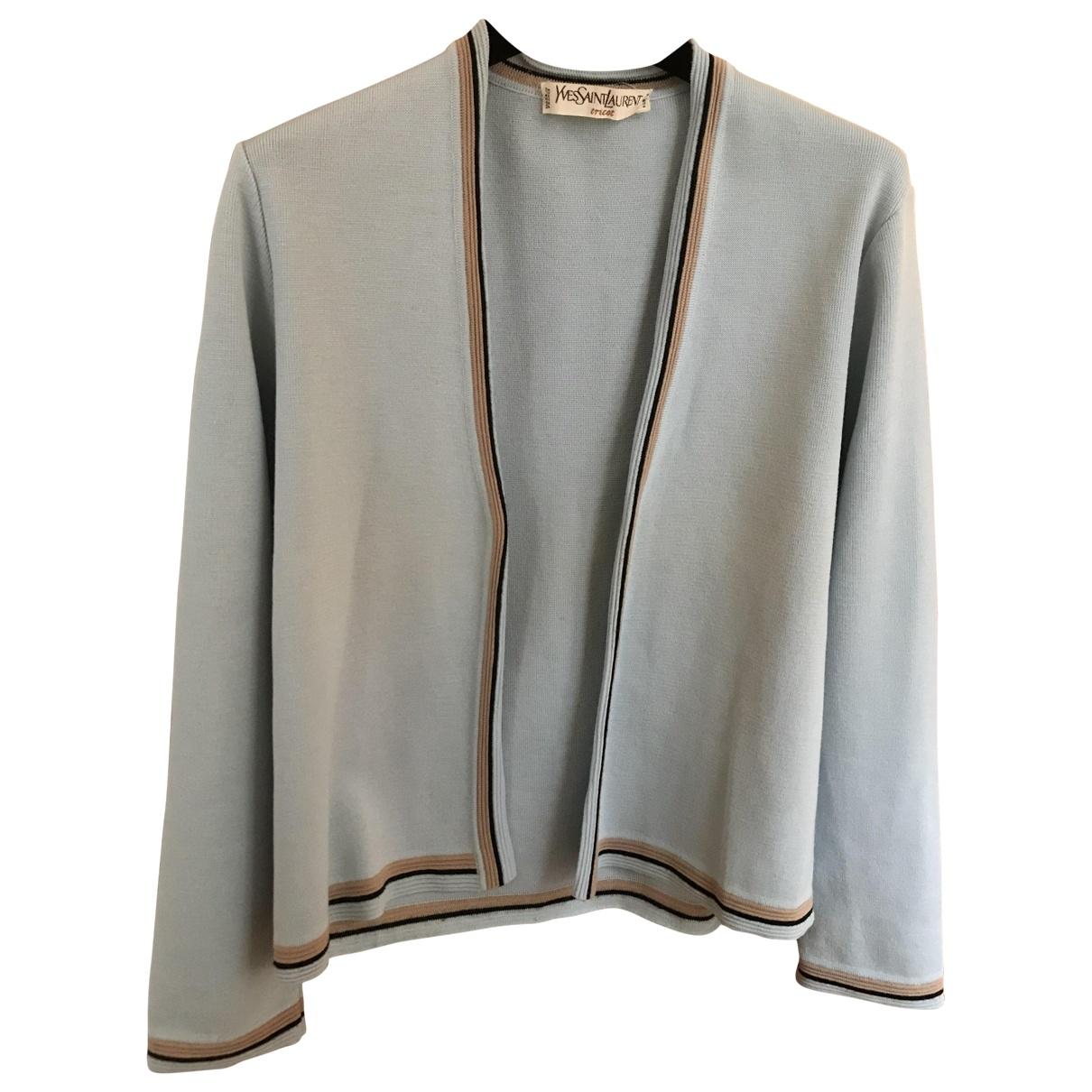 Yves Saint Laurent - Pull   pour femme en laine - bleu