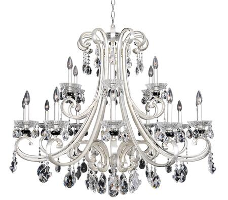 Bedetti 023953-017-FR001 18-Light Chandelier in Two Tone Silver Finish with Firenze Clear