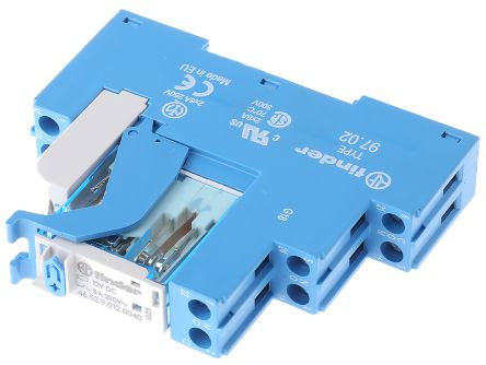 Finder , 12V dc DPDT Interface Relay Module, Screw Terminal , DIN Rail