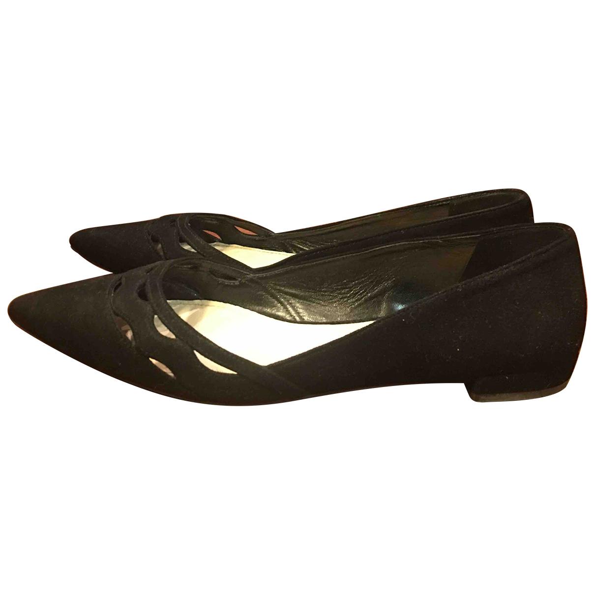 Prada - Ballerines   pour femme en suede - noir