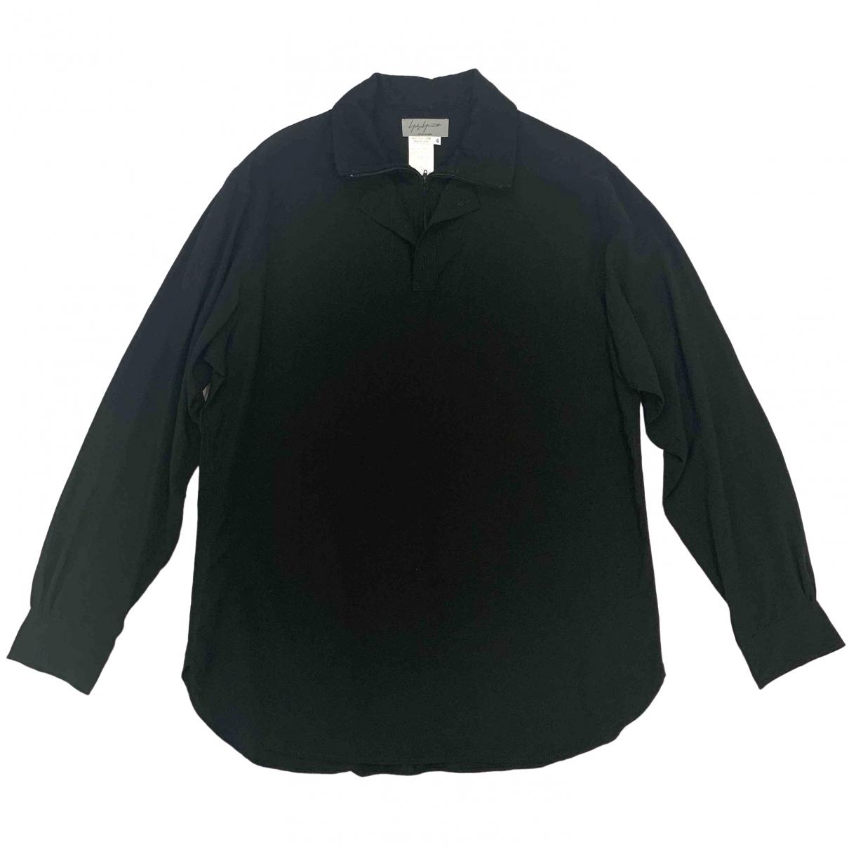 Yohji Yamamoto - Chemises   pour homme en laine - noir