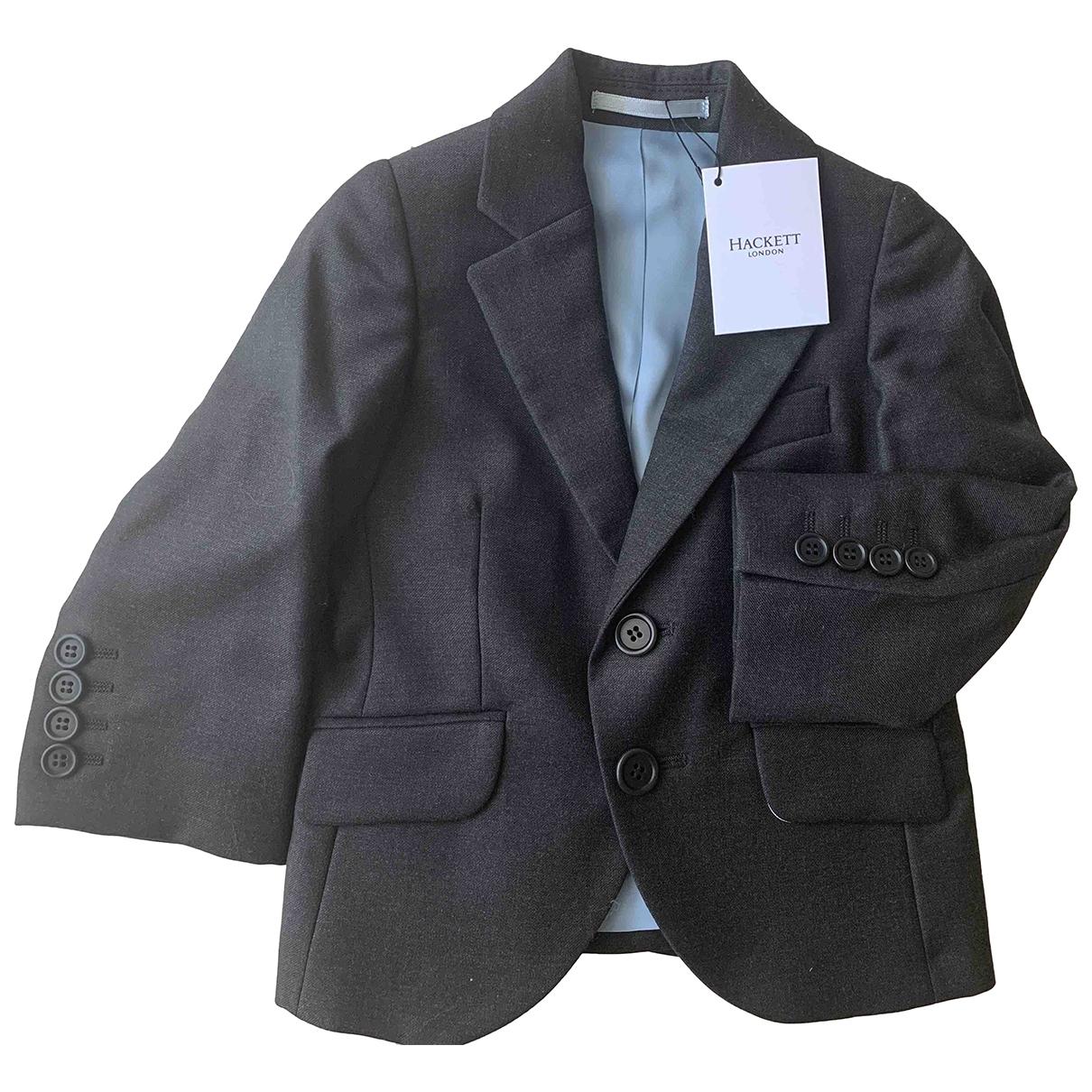 Hackett London - Blousons.Manteaux   pour enfant en laine - anthracite