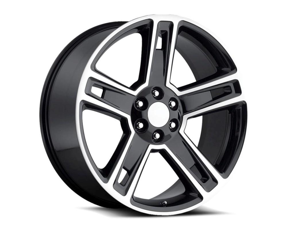 OE Revolution G07-2290655+31GBM G-07 Wheel 22x9 6x139.7 31mm Gloss Black Machined Face