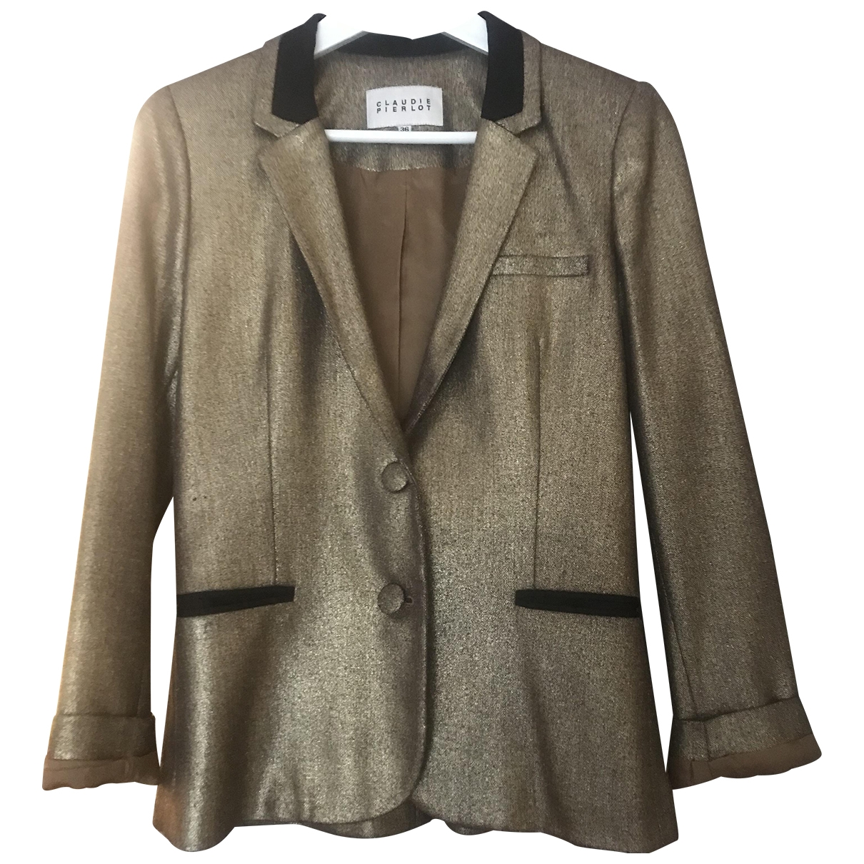 Claudie Pierlot \N Gold jacket for Women 36 FR