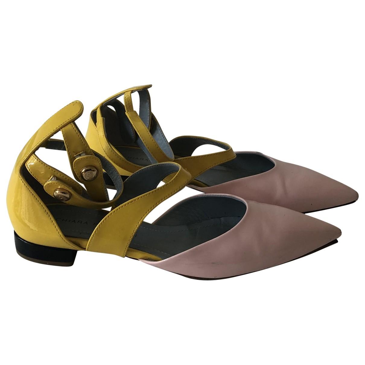 Chiara Ferragni \N Ballerinas in  Gelb Lackleder