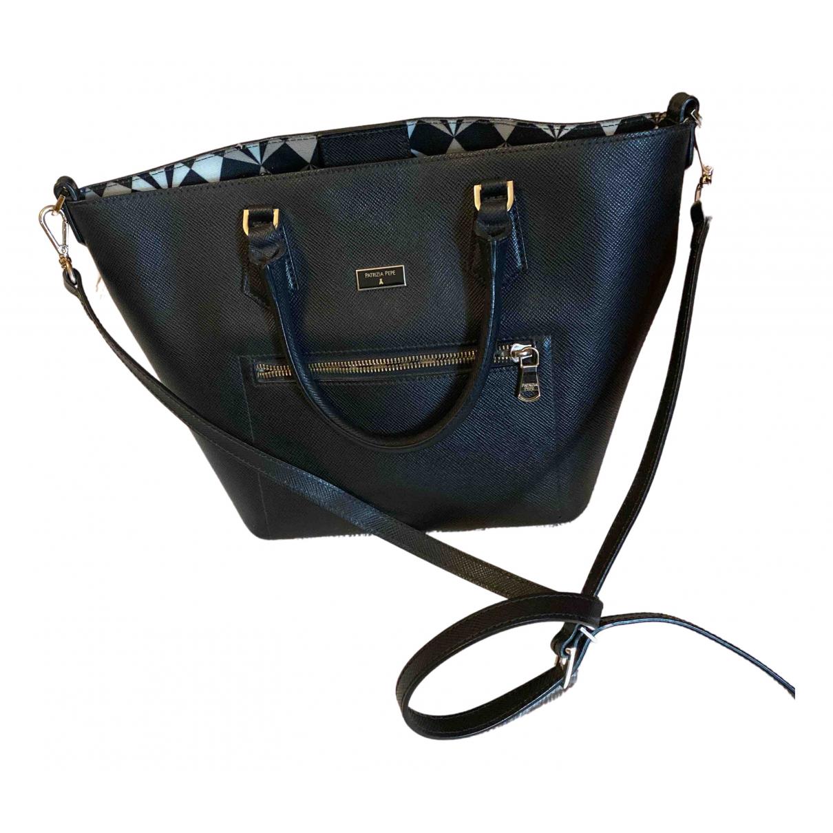 Patrizia Pepe \N Handtasche in  Schwarz Leder