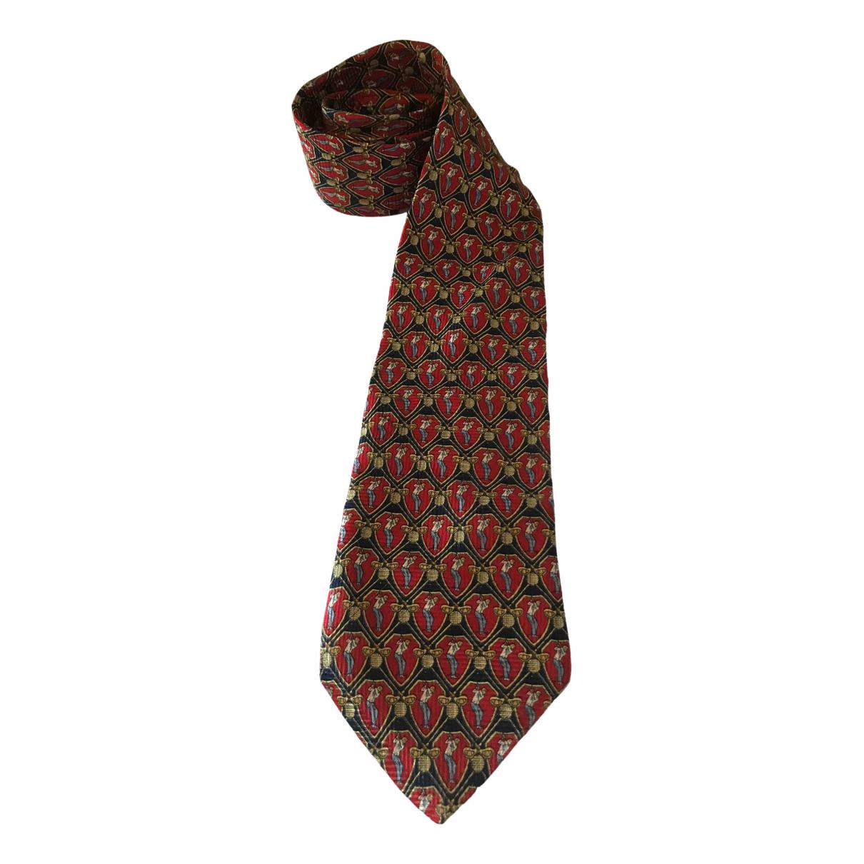 Givenchy \N Krawatten in  Rot Seide