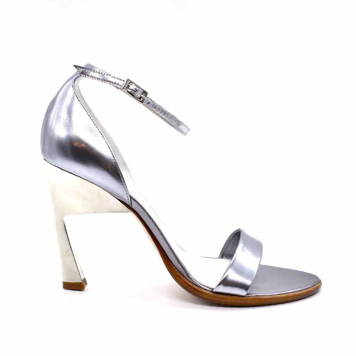 Maison Martin Margiela \N Silver Leather Sandals for Women 41 EU