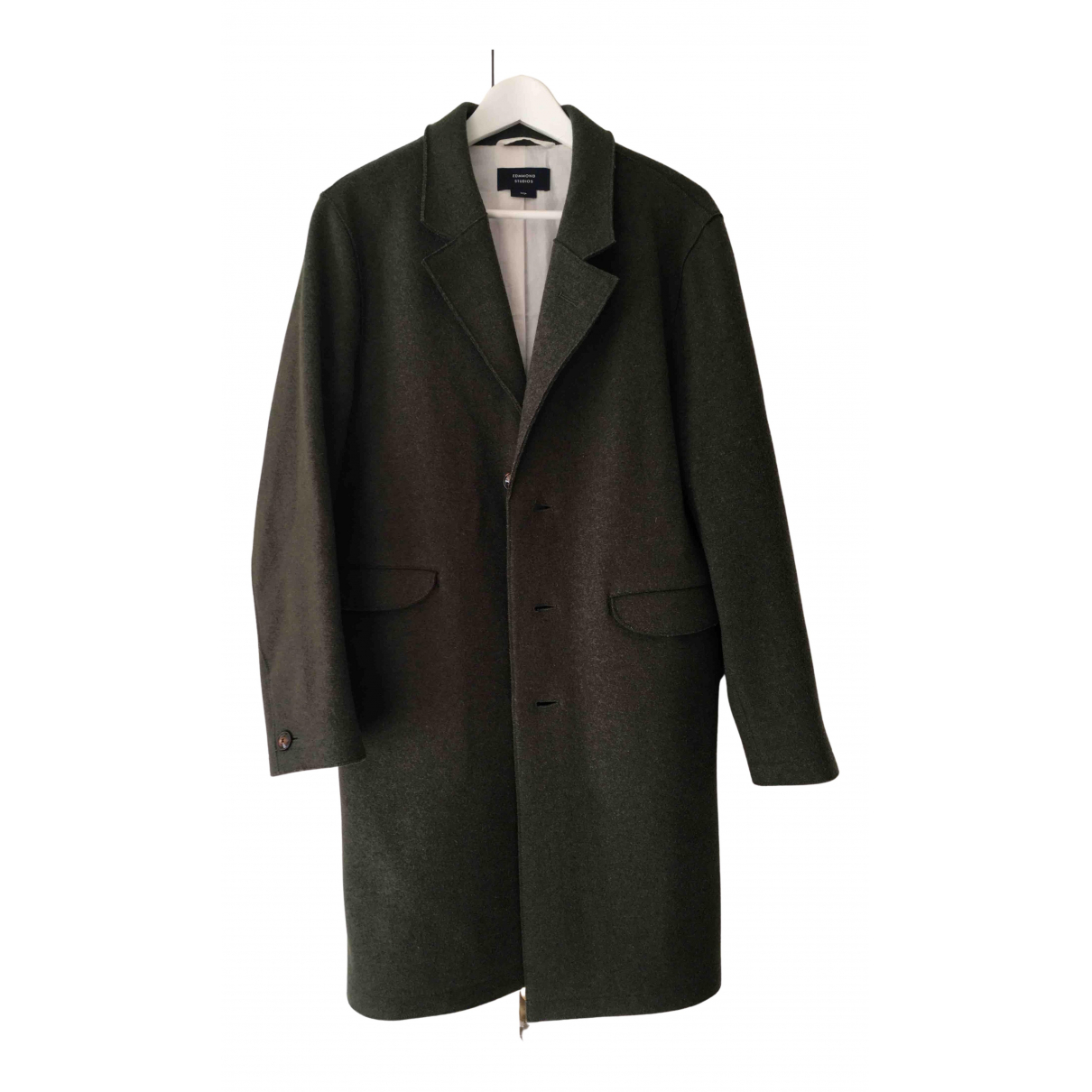 Non Signé / Unsigned N Green Wool coat  for Men L International