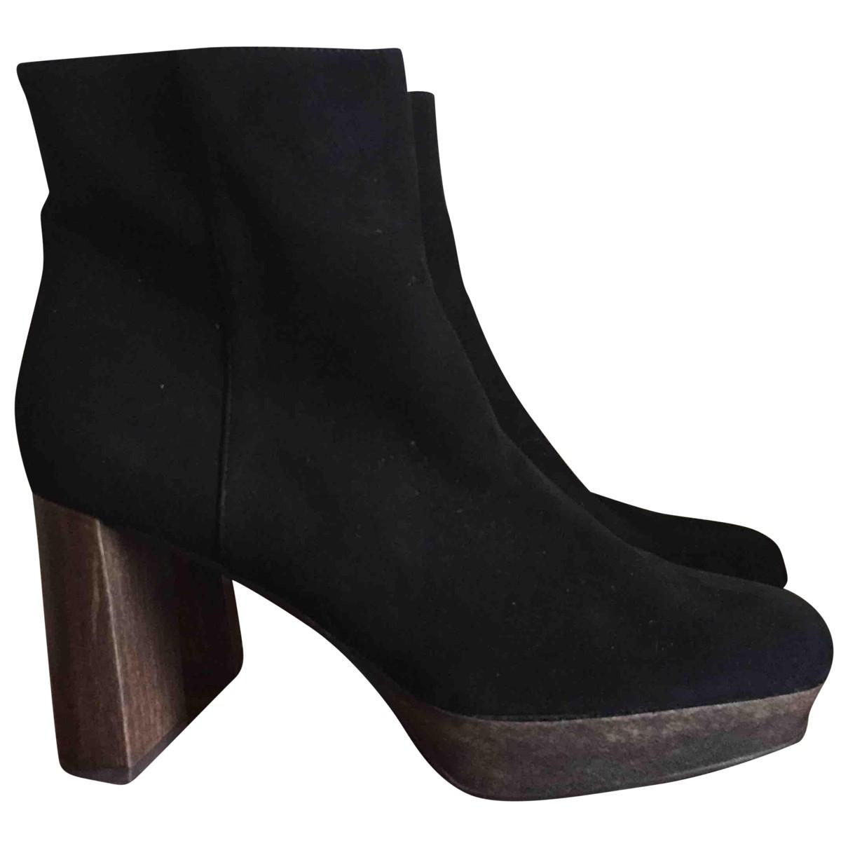 Jaime Mascaro - Boots   pour femme en suede - noir