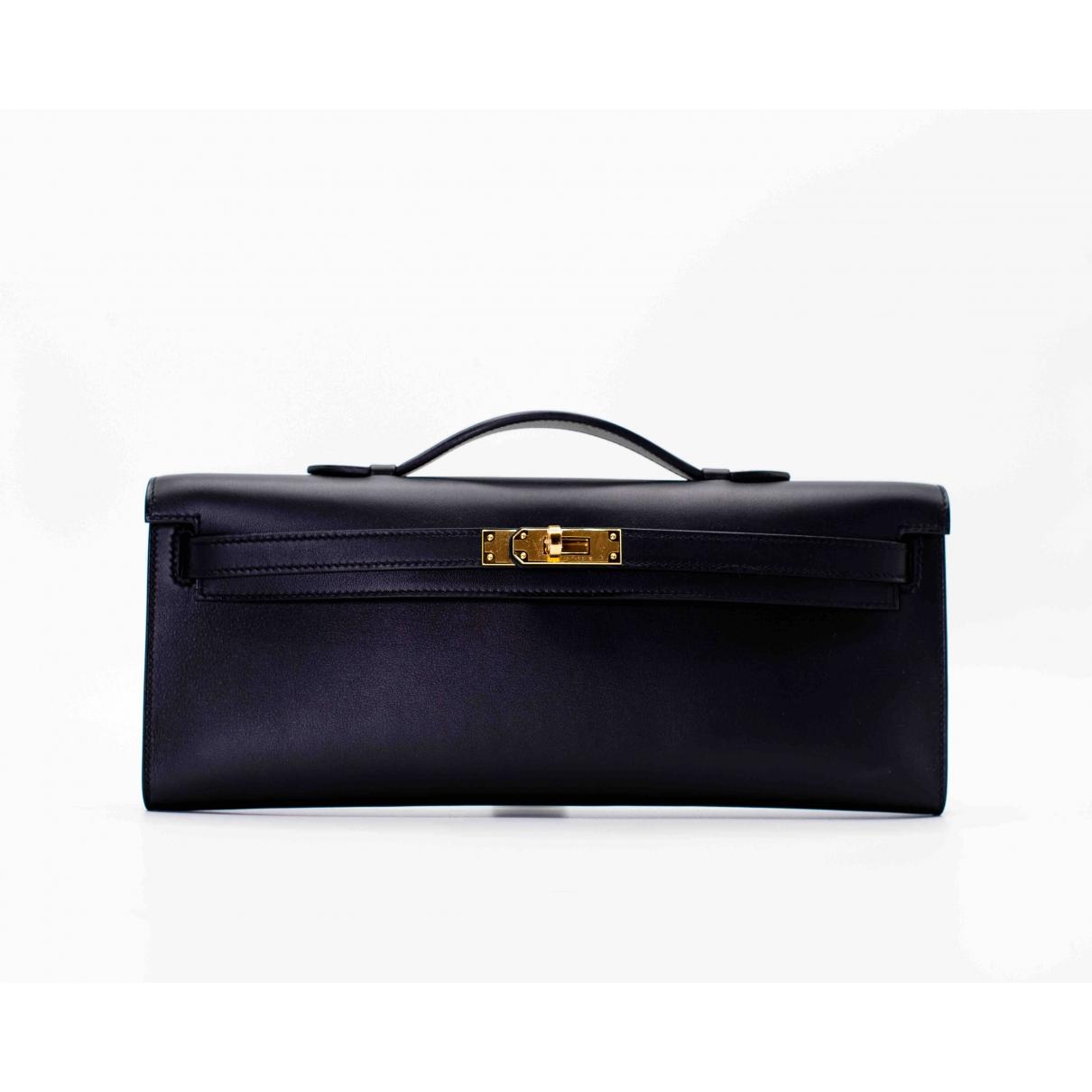 Hermès Kelly Cut Clutch Black Leather Clutch bag for Women \N