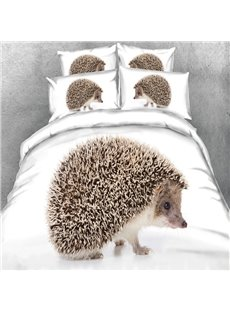 Adorable Hedgehog 3D Printed 5-Piece Comforter Sets