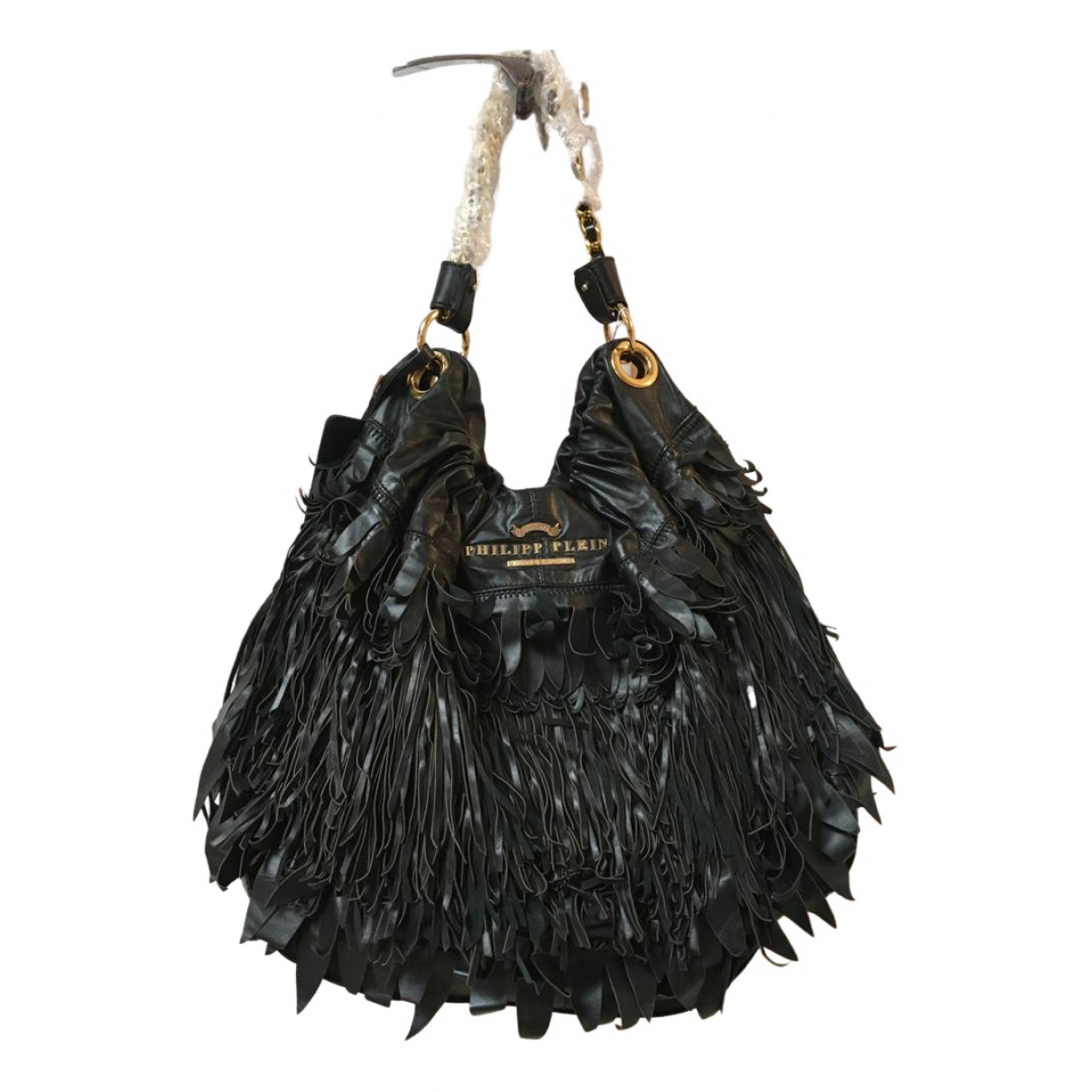 Philipp Plein N Black Leather handbag for Women N