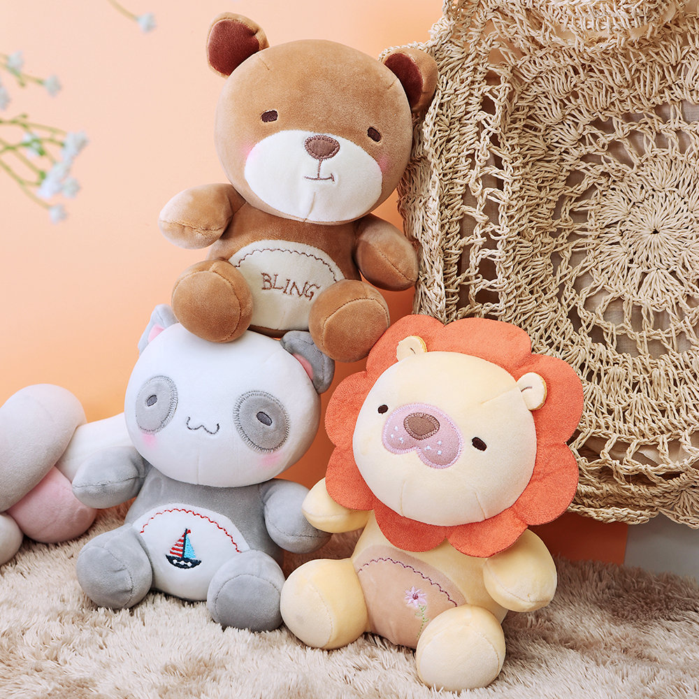 Panda Lion Bear Stuffed Plush Toy Cotton Christmas Gifts