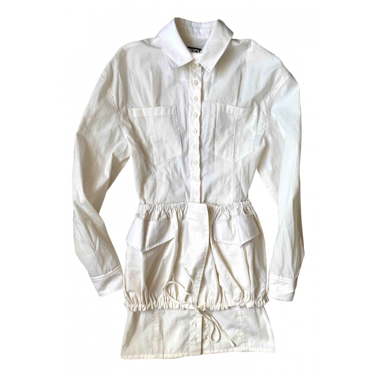 Jacquemus - Robe Le coup de soleil pour femme en coton - blanc