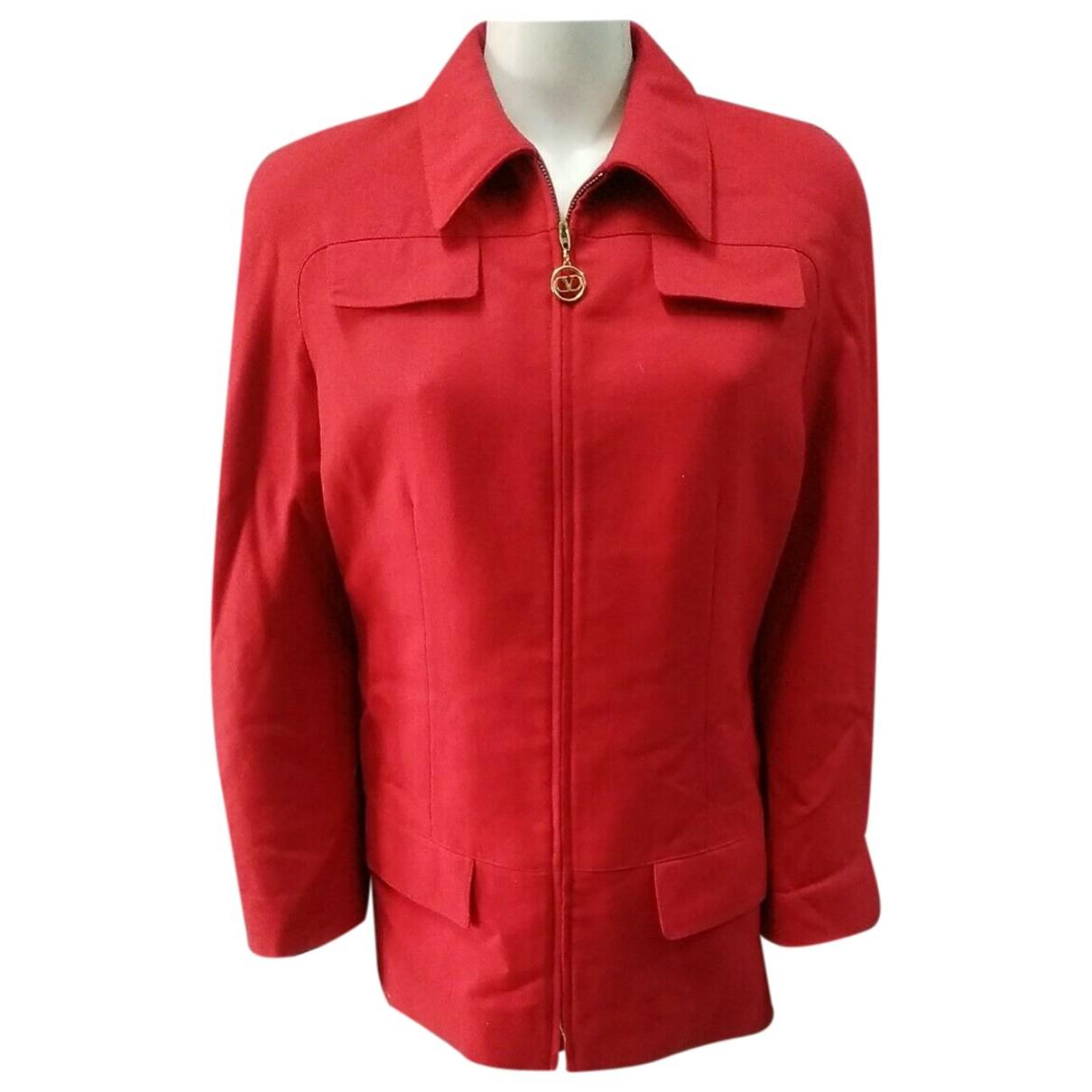 Valentino Garavani - Veste   pour femme en laine - rouge