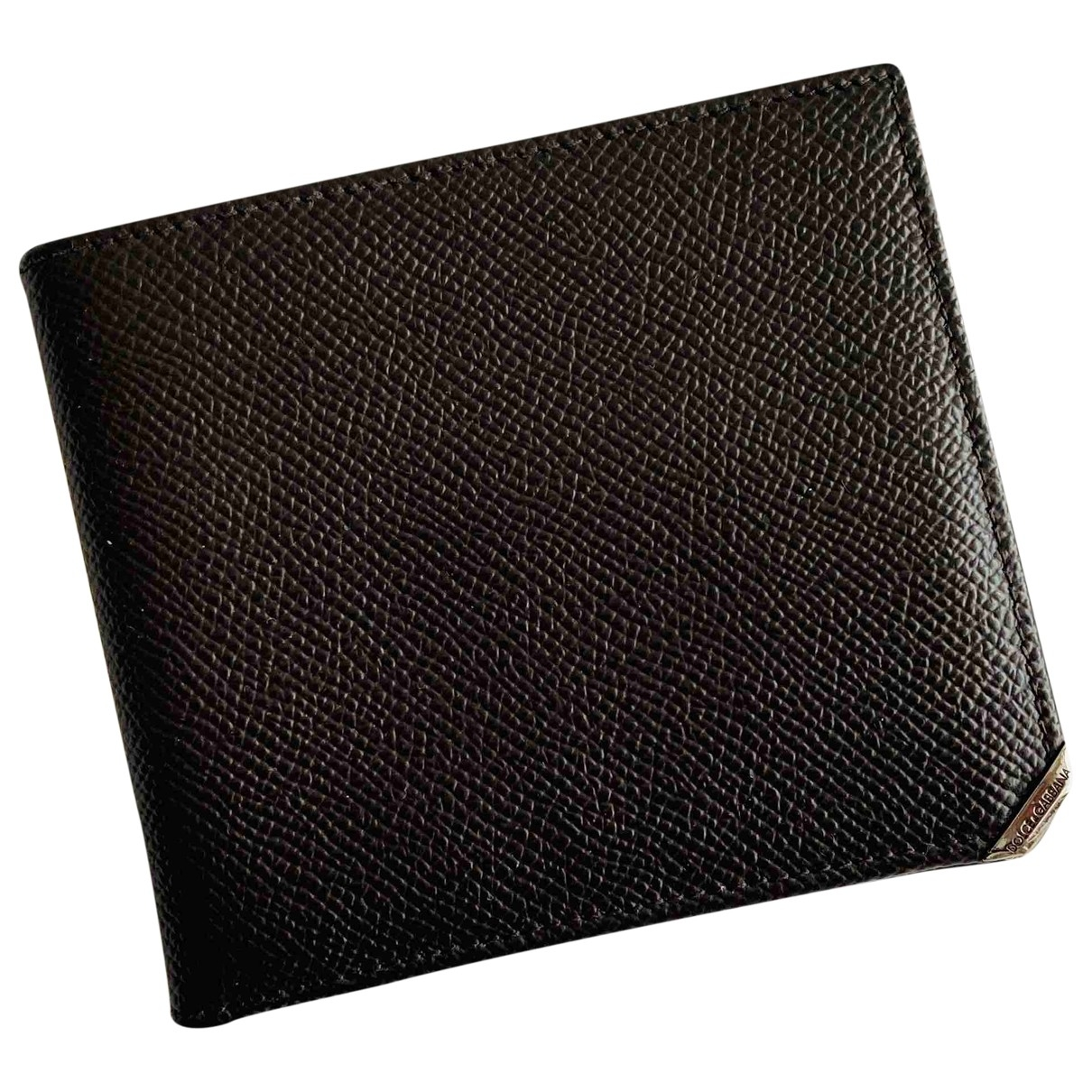 Dolce & Gabbana - Petite maroquinerie   pour homme en cuir - marron