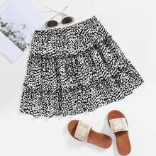 Leopard Layered Skirt