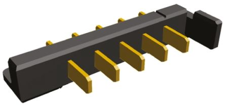 TE Connectivity , 5 Way, 1 Row, Right Angle PCB Header
