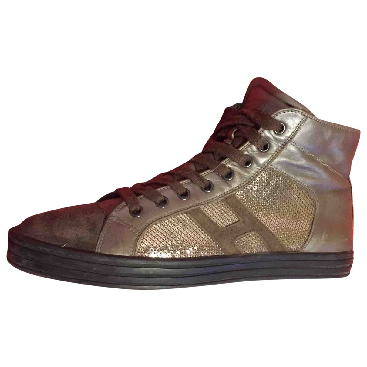 Hogan \N Brown Leather Trainers for Women 39.5 EU
