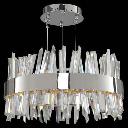 030253-010 Glacier 20 Inch LED Round Pendant Ceiling Light Style  120V in Chrome