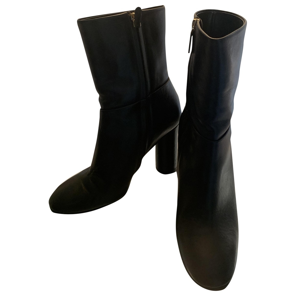 Anya Hindmarch \N Black Leather Ankle boots for Women 40 EU