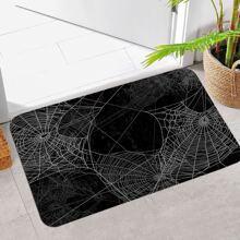 Cobweb Print Floor Mat