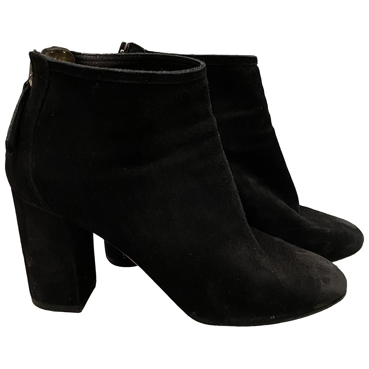 Aquazzura \N Black Suede Ankle boots for Women 36 EU
