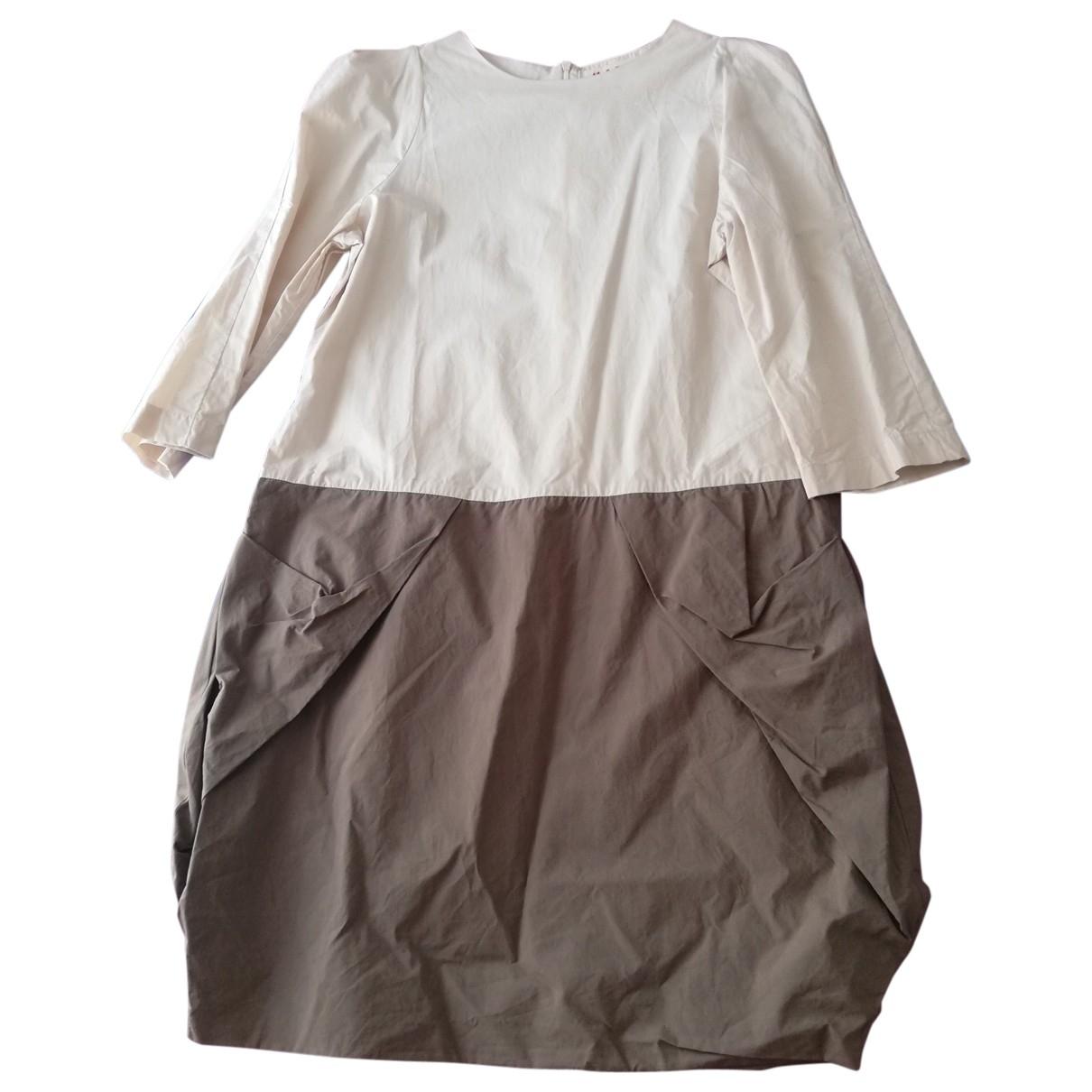 Marni - Robe   pour femme en coton - beige