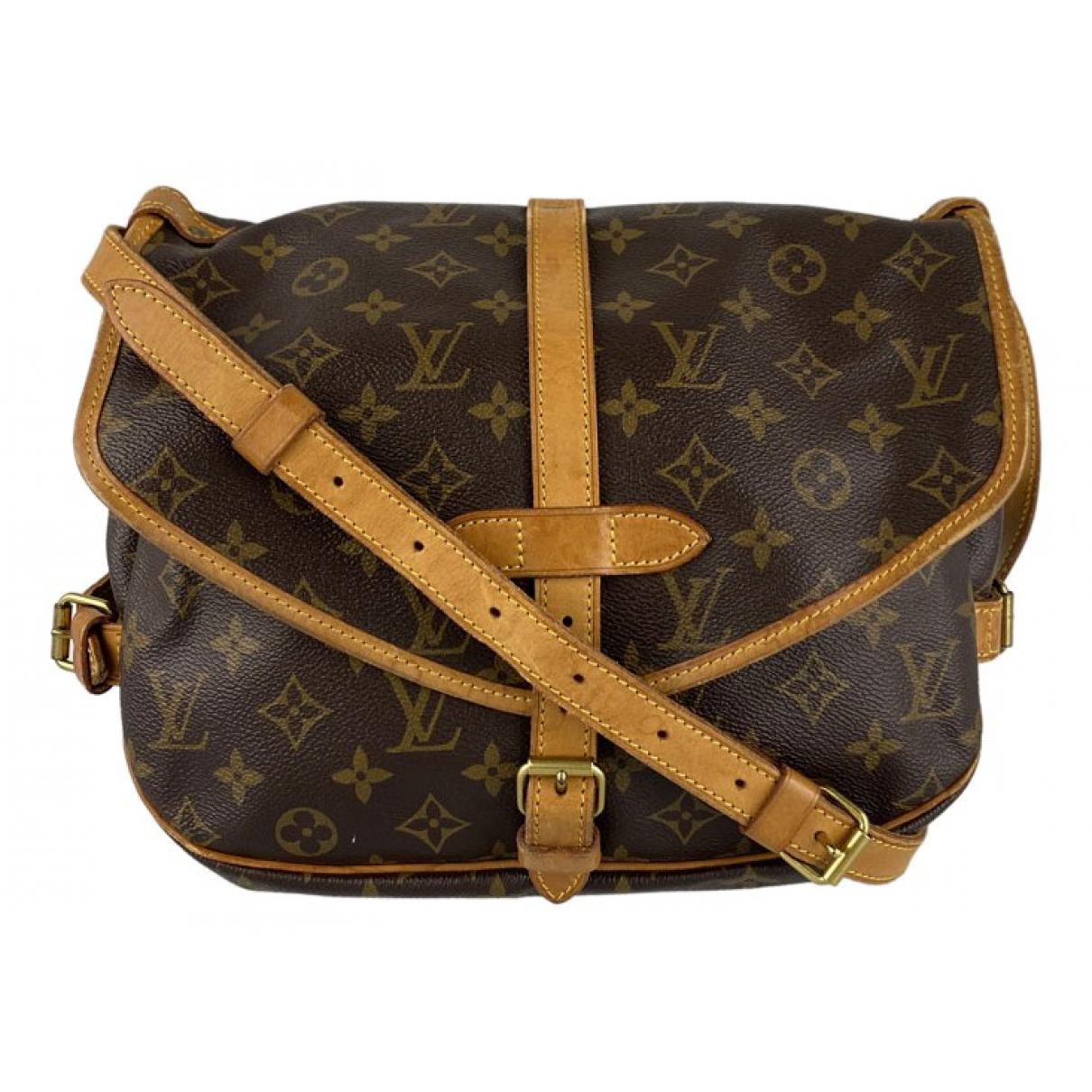 Louis Vuitton Saumur Brown Cloth handbag for Women N