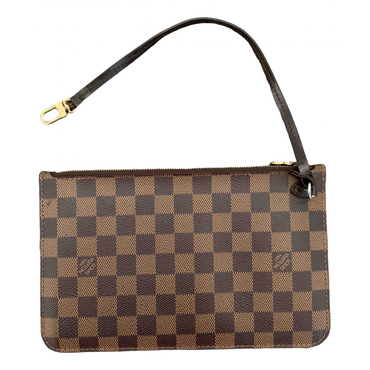 Louis Vuitton Neverfull Brown Cloth Clutch bag for Women \N