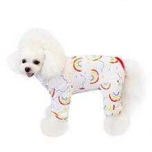 Schlafanzug mit Regenbogen Muster fuer Hunde