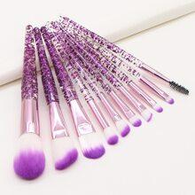 10pcs Duo-fiber Makeup Brush Set