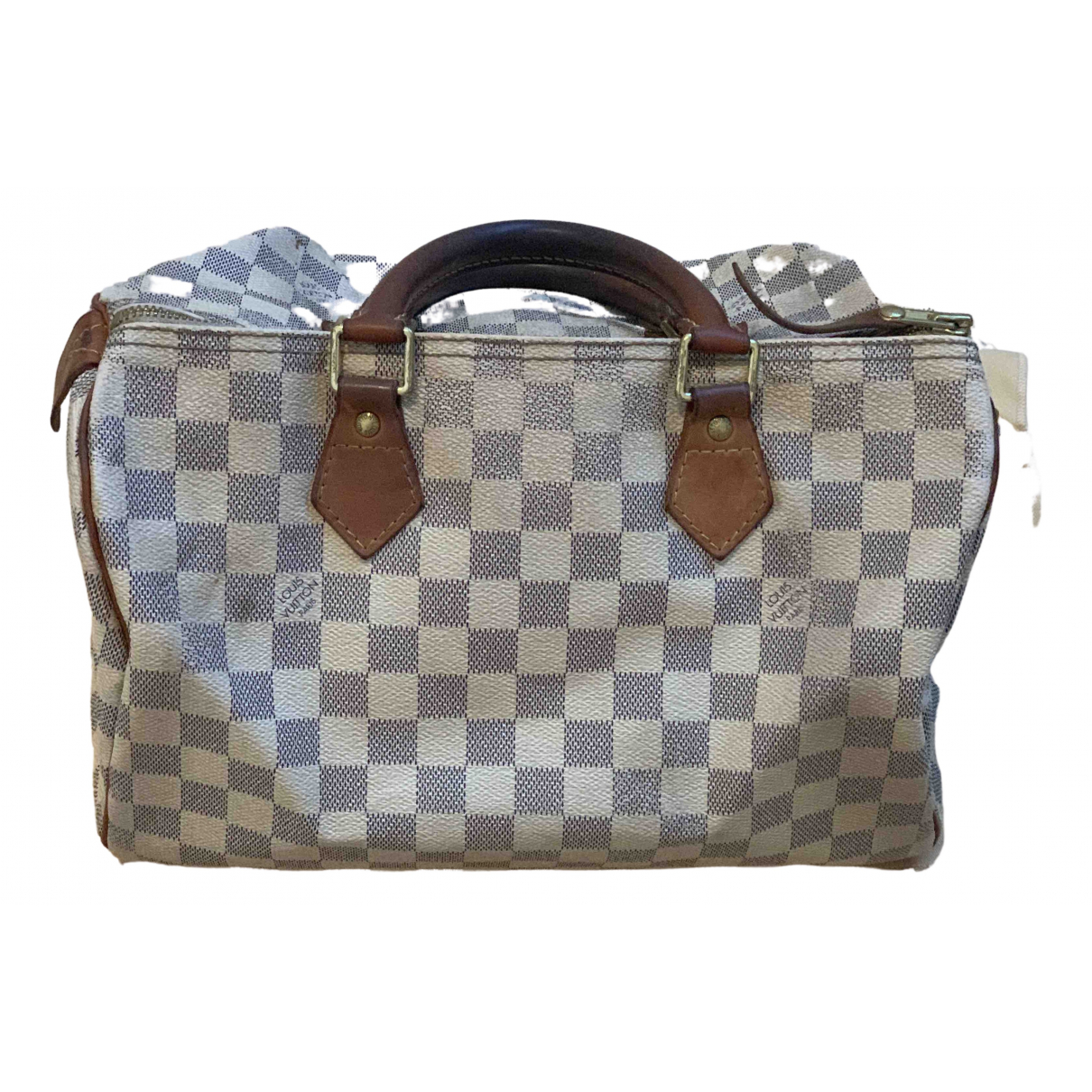 Louis Vuitton Speedy White Cloth handbag for Women \N