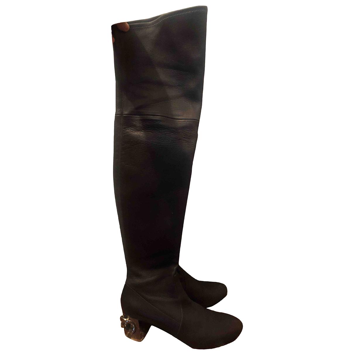 Casadei - Bottes   pour femme en cuir - marron